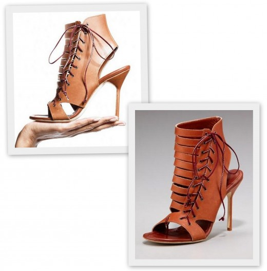 1 Manolo Blahnik Cutout Lace-up Bootie
