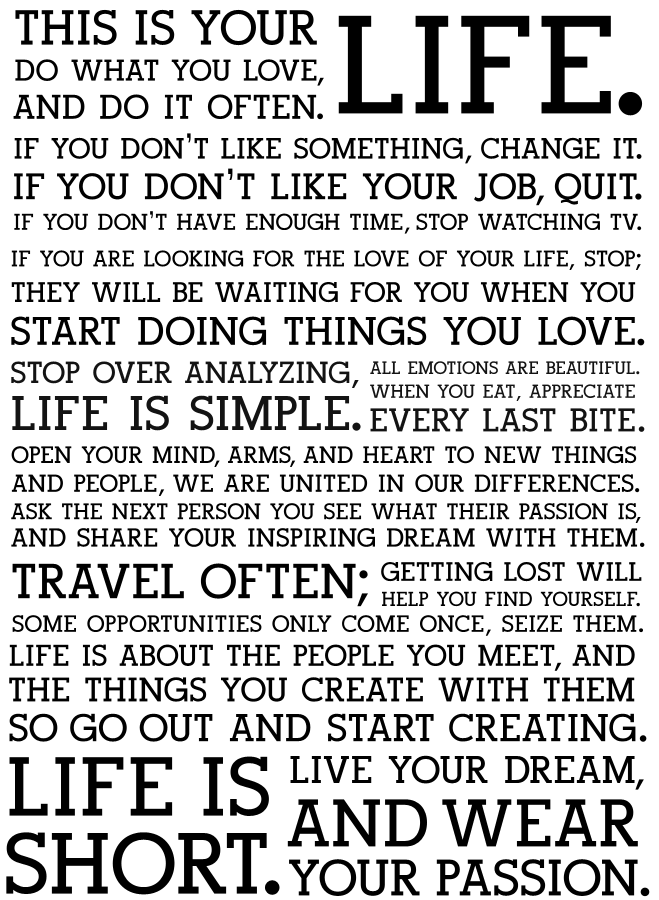 simple speech about life