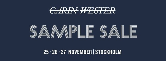 Carin Wester sample sale