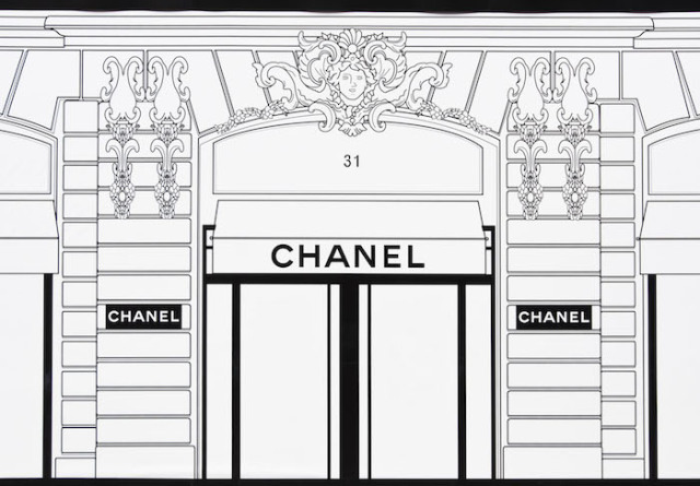 Chanel boutique under construction