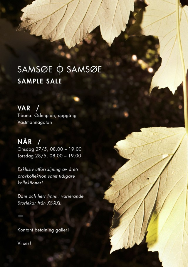 Samsoe Samsoe Sample Sale