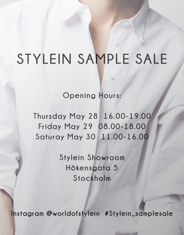 Stylein Sample Sale